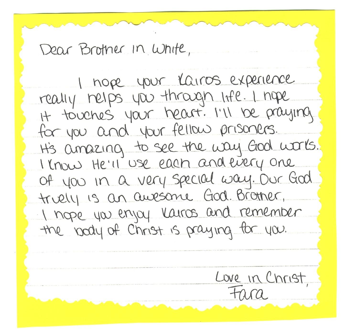 writing to prisoners